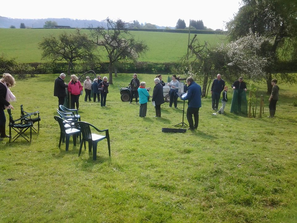 Harvest festival in the orchard