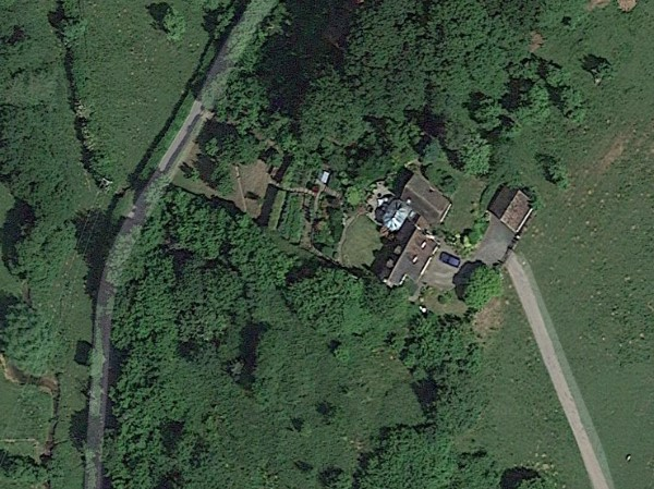 Ariel View of Wheatcroft Orchard and House
